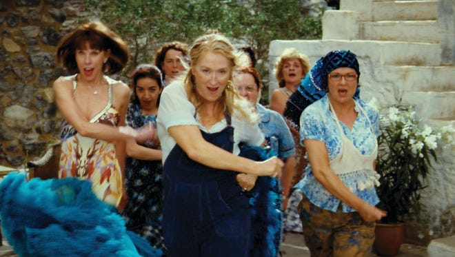 (l-R) Christine Baranski, Merly Streep and Julie Walters in a scene from the 'Mamma Mia.'
