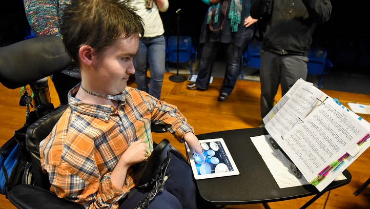 Adaptive music technology sets Swanville senior soaring