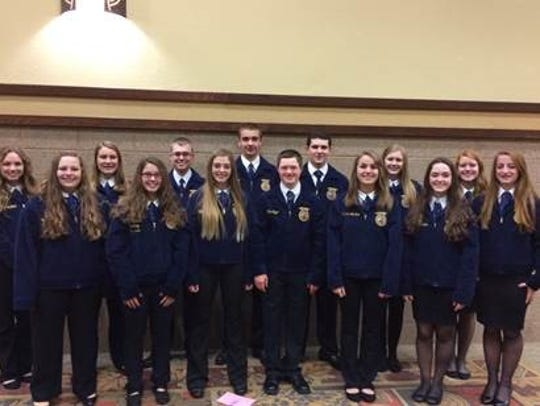 FFA Members who attended the 212/360 Leadership Conference