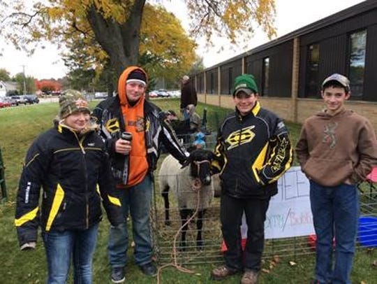 FFA Members at Pumpkinfest were, from left, Emily Paplham,