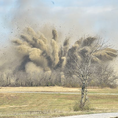A blast occured after crews at Letterkenny in Chambersburg,