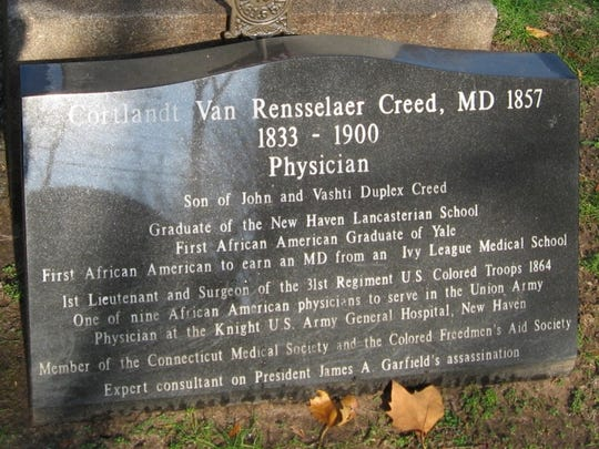 Cortlandt Van Rensselaer Creed was the first African-American graduate of Yale. His grandparents lived in Danby.