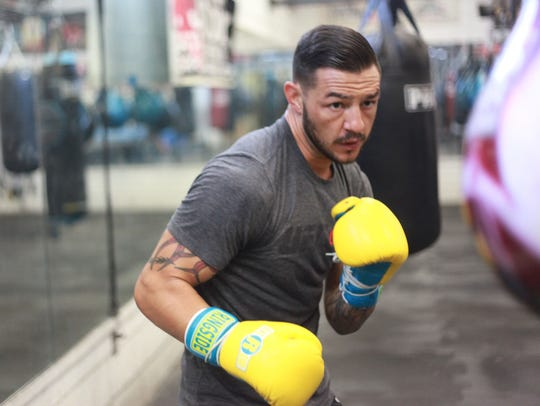 """Kevin """"Cub"""" Swanson during a training session at Indio"""