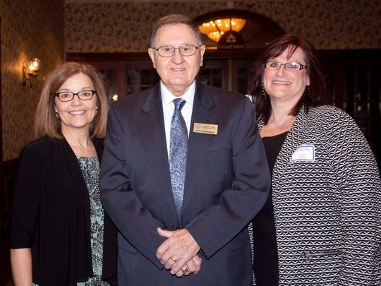 Waukesha County Board supervisor Bill Zaborowski stands with Luann Page (left), Aging and Disability Resource Center manager, and ADRC volunteer Mary Smith in 2016.