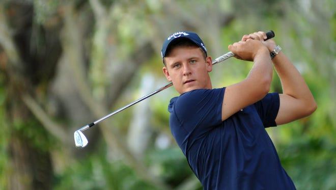 Kerry Sweeney is helping lead the Eastern Florida State men's golf team in the NJCAA torunament.