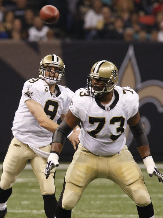 Drew Brees, Jahri Evans
