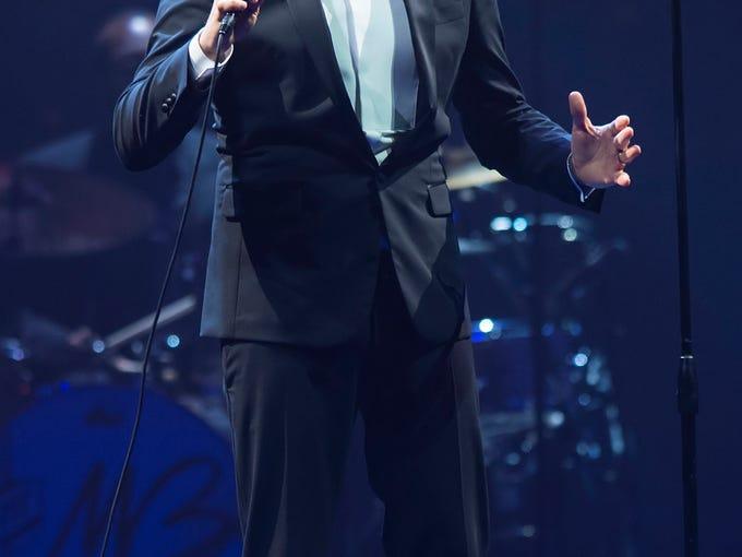 Grammy Award winner Michael Buble performed Sunday, September 15, 2013, at Bankers Life Fieldhouse.  Doug McSchooler / for The Star