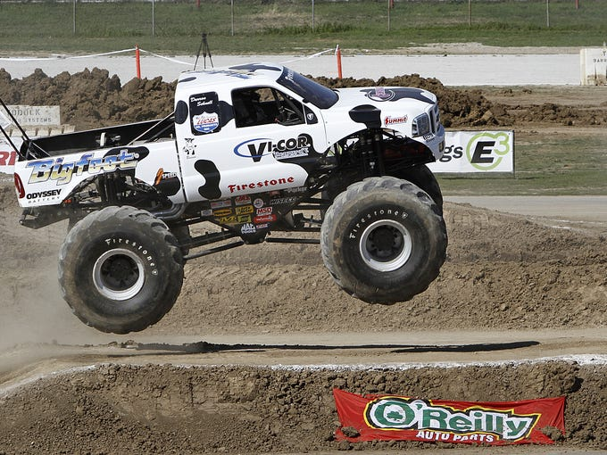 From monster trucks, hot rods and airplanes, to dinosaurs, outdoor experiences and a live Wiggles concert, there are lots of things to do this week in and around Indy. Take a look at our five picks.   -- Betsy Reason  Photo: Darron Schnell jumps his monster truck during the 4-Wheel Jamboree Nationals in 2012.