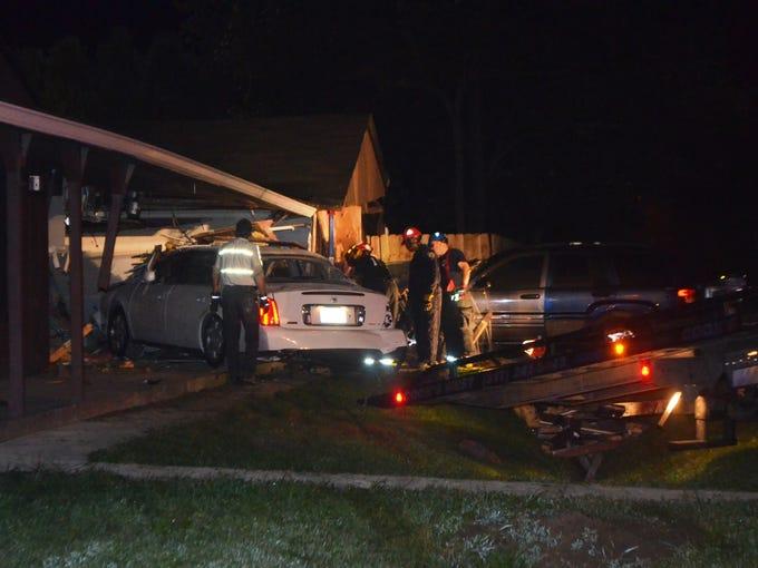 Car Crashes Into House Indianapolis