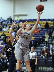 HSU's Addison Garcia had five double-doubles during her freshman year, but missed last season due to an injury. The 6-foot center is back this year and scored 20 points as the Cowgirls defeated LeTourneau to snap a seven-game losing streak on Saturday.