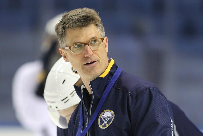 """Buffalo Sabres coach Ron Rolston was fined due to """"player selection and team conduct"""" during the brawl with the Toronto Maple Leafs."""