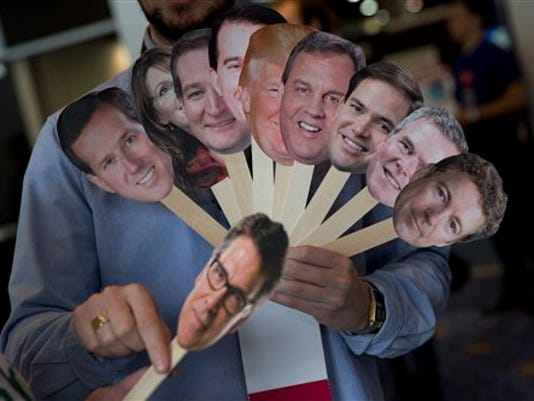 """Howard """"Cowboy"""" Woodward, Rick Perry, Rand Paul, Adam Gabbatt, Ted Cruz, Sarah Palin, Scott Walker, Marco Rubio, Rick Perry, Jeb Bush"""