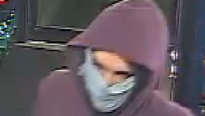 A surveillance photo of the suspect wanted for a May 1 robbery of a Shore Stop in the Long Neck and Angola area.