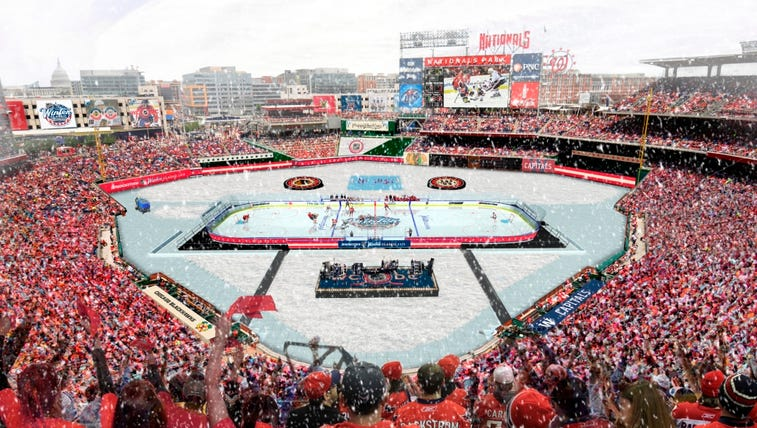 Rendering of the 2015 Winter Classic at Nats Park.