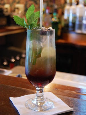 A blueberry mojito at Robin's Nest Restaurant in Mount Holly is a sure sign of summer.