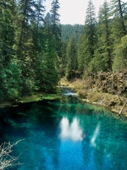 Tamolitch Pool is along the McKenzie River Trail.