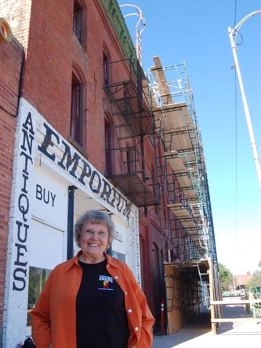 Ellen Sievert outside the Arvon Block