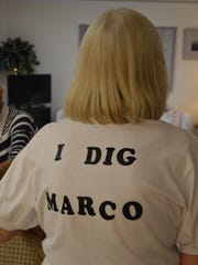 The I Dig Marco t-shirt was a popular fundraising item.