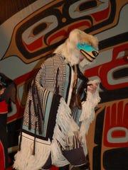 Tlingit dancer Hunter Gray performs while wearing Salem native John Beard's Oregon Lattice Band Robe at Sealaska Heritage's Celebration 2010 in Juneau.
