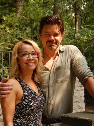 Jennifer Cody (Patsy) and Hunter Foster (King Arthur), stars of Geva Theatre's 'Spamalot.'