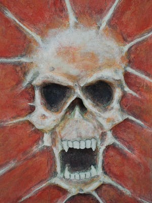 "Jay Lana created this 3-D skull titled ""Anger Within."""
