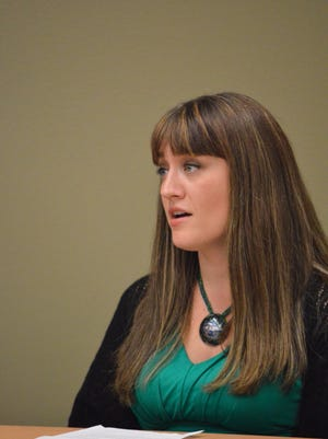 Amanda Brenden, 30, of Eau Claire spoke at a press conference for the roll out of the Centers For Disease Control's 2014 Tips From Former Smokers ad campaign. Brenden is featured in an ad in which she describes her daughter's premature birth because Brenden smoked while she was pregnant.