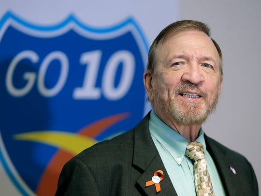 TxDOT El Paso District Engineer Robert Bielek speaks at a press conference Tuesday to address concerns and complaints about the number of construction projects being done concurrently in El Paso.