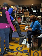 Dozens of vendors offer their wares st the 33,000 square foot trade show.