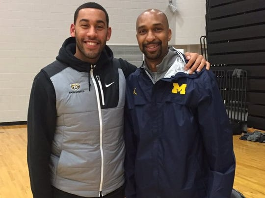 Drew Valentine, left, and Saddi Washington -- good friends from their Lansing days -- will square off in the Final Four, with Loyola-Chicago and Michigan, respectively.