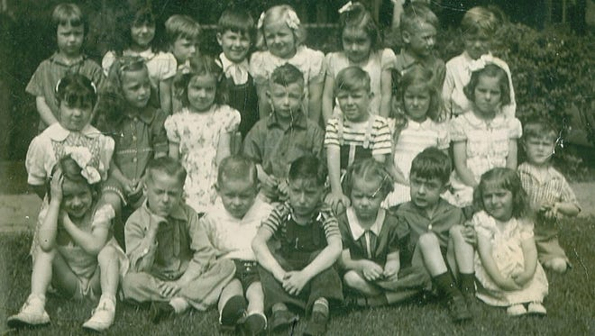 Some of the kindergartners who would years later graduate as the Northville High School Class of 1952. The class is planning a 65th and final reunion for later this month.