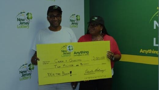A Manalapan couple has won $2 million in a scratch-off lottery game.