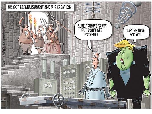 The GOP establishment vs. Donald Trumo