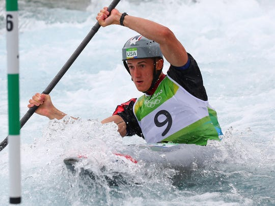 Michal Smolen competes Aug. 10 in men's K1 kayak semifinals in the Rio 2016 Summer Olympic Games.