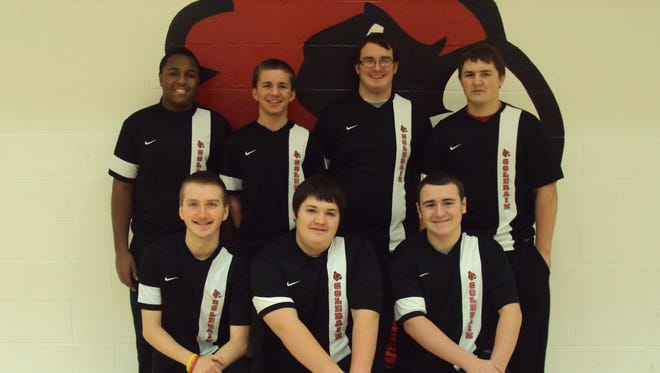 The Colerain boys' varsity bowling team was the only area team to qualify for the Division I state tournament March 13. Kneeling, from left, are Brandon Nuttle, Donovan Murray, Austin Piotrowski. Standing: Darius Butler, Vince Sprague, Andrew Ward, Nick Poppe.