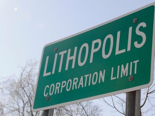 Lithopolis sign PRESTO STOCK