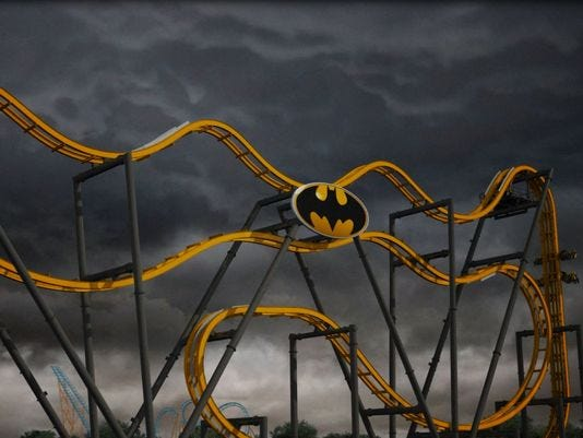 First 4D rollercoaster to open in Texas in 2015! Batman ...