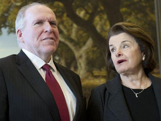 John Brennan and Sen. Dianne Feinstein Saul Loeb AFP-Getty Images