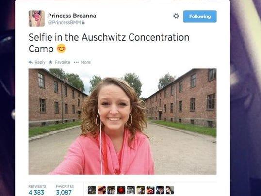 Selfie in Auschwitz