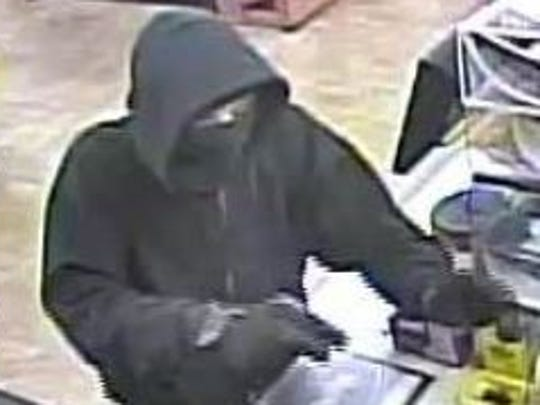 Indianola police are searching for this man who tried to rob a Casey's General Store on April 28, 2015.