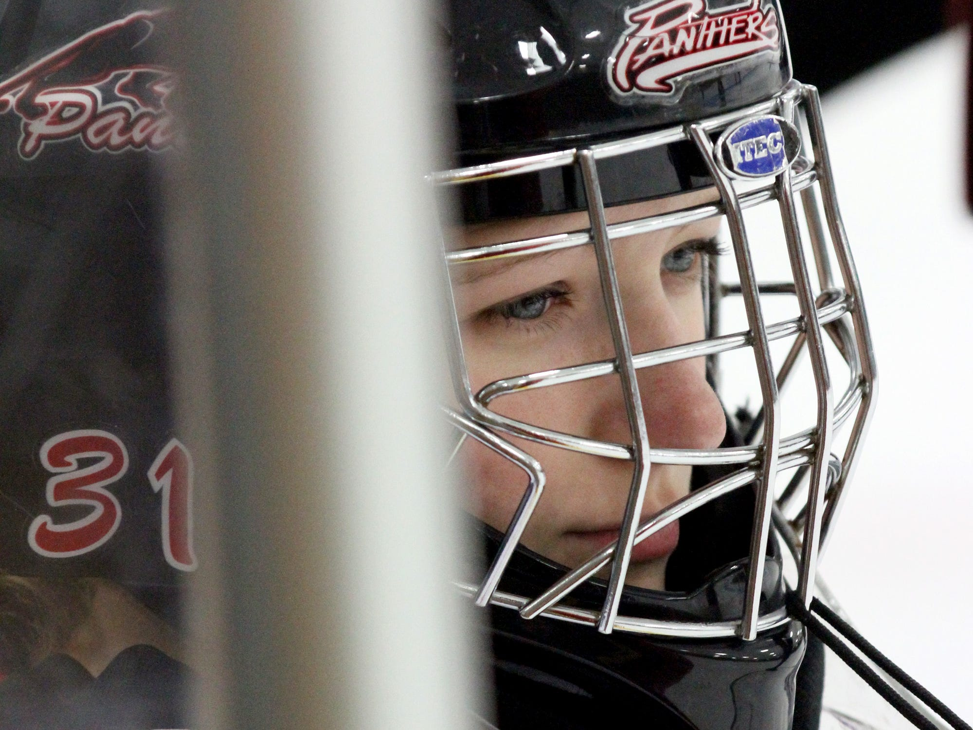 Point/Rapids senior goalie Emily Bubla has been between the pipes for the Red Panthers for all four years of her high school hockey career.