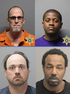 Mark Cole (upper left), D'Juan Poole (upper right), Dustin Bonin (lower left) and Javonne Jackson (lower right) were all arrested by the Louisiana Attorney General's Office for various sex crimes involving juveniles.