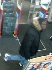 Suspect sought in New Brunswick burglaries.