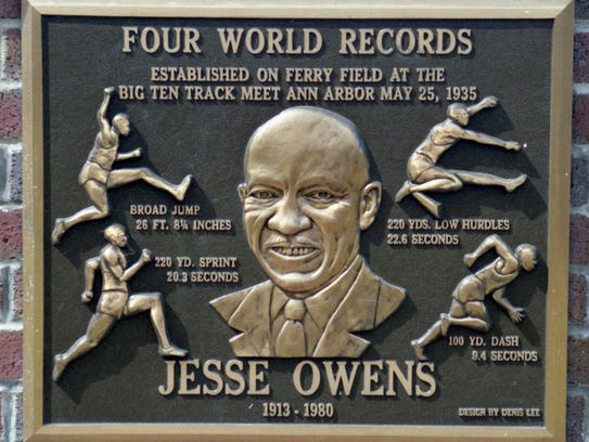 1935 : Jessie Owens Sets 3 World Records and Ties Another in Ann Arbor, All Within 45 Minutes