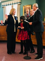 Stephanie McGowan gets sworn into office on Jan. 1