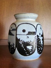 """Ceramic pot by Takashi """"Kash"""" Yamada, part of a retrospective exhibit of his pottery running through Oct. 18 in the Madeline Tourtelot Archives & Study Center at Peninsula School of Art."""