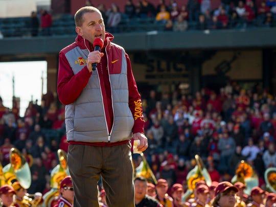 Iowa State director of athletics Jamie Pollard talks