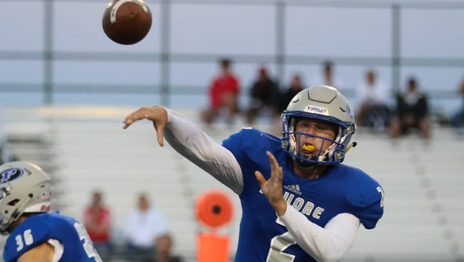 Poudre quarterback Troy McFadden played his first game in nearly a year on Friday. After tearing his ACL early last season, McFadden helped the Impalas beat Douglas County 48-6 on Friday.