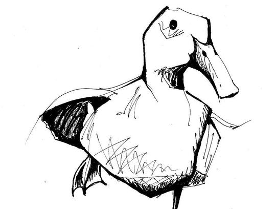 """""""Duck"""" by Faith Frykman, part of the Sturgeon Bay Painting"""