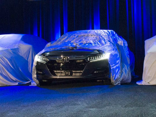 The 2018 Honda Accord is revealed on Friday, July 14,