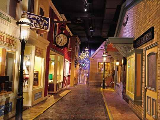 The Streets of Old Milwaukee is the public museum's oldest walk-in diorama.